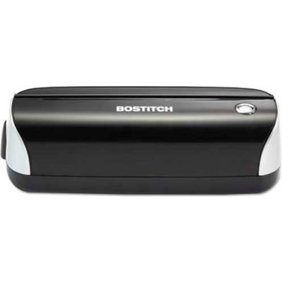 Stanley Bostitch® Electric Three-Hole Punch, 12 Sheet Capacity, Black