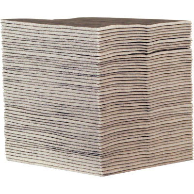 """EverSoak® Heavy-Duty Absorbent Pads, 23.5 Gallon Capacity, 15"""" x 19"""", 50 Pads/Case"""