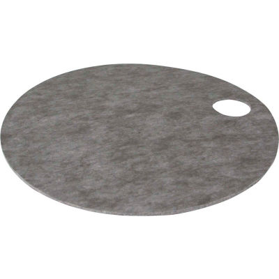"""EverSoak® Absorbent Drum & Barrel Top Pads - 6.5 Gallon Capacity - 22"""" Dia. - 10 Tops per Case"""