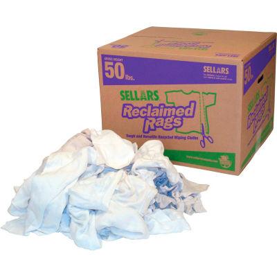 Reclaimed Rags - White Fleece, 50 Lbs.
