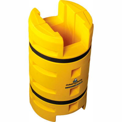 "Column Sentry® Column Protector, 12""x 12"" Square Opening with FE Cutout, 24""O.D. x 42""H Yellow"