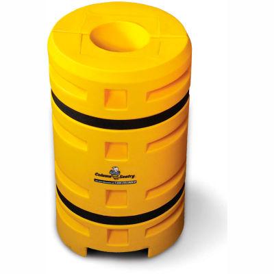 "Column Sentry® Column Protector, 9"" Diameter Round Opening, 24"" O.D. x 42""H, Yellow"