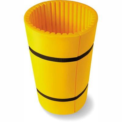 "Concrete Wrap™ Column Protector For 24"" Dia. Concrete Columns, 44""W x 48""H, Yellow"