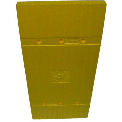 "Park Sentry® Column Protector - Planks, For 24"" x 24"" Square Columns, Yellow, 4/Carton"