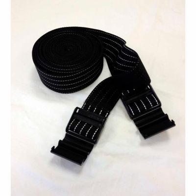 "Park Sentry® Black Reflective Strap, 158""L x 2""W, Set of 2"