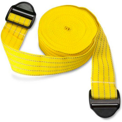 """Park Sentry® Yellow Reflective Strap with Strap Lock Buckle, 158""""L x 2""""W, Set of 2"""