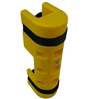 """Rack Sentry® Rack Protector with Cutout, 3"""" x 3"""" Opening, 18""""H, Yellow"""