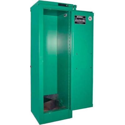 "Securall® 4, D & E Cylinder, Vertical Medical Gas Cabinet, 14""W x 13-5/8""D x 44""H, Manual Close"