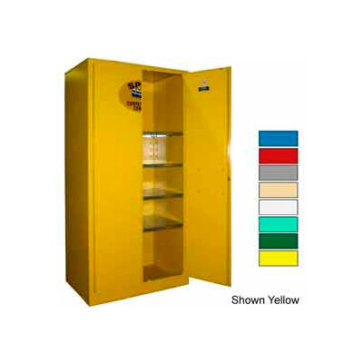 Securall® 36x24x72 Flammable Spill Containment Cabinet Gray