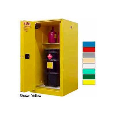 Securall® Drum Cabinet 65 Gal. Capacity Vertical Self Close Flammable W/ Drum Rollers
