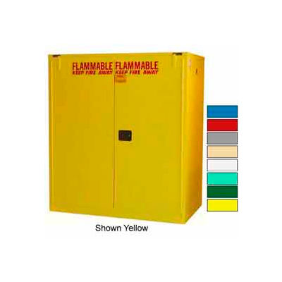 Securall® Drum Cabinet 120 Gal. Capacity Vertical Self Close Flammable W/ Drum Rollers
