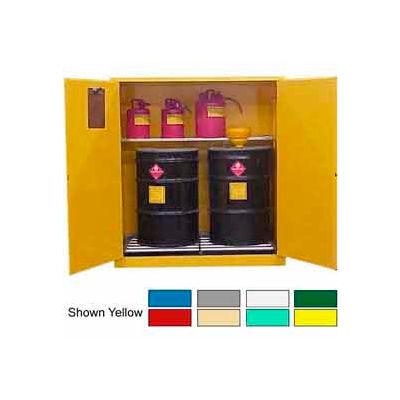 Securall® Drum Cabinet 120 Gal. Capacity Vertical Manual Close Hazmat Flammable W/ Drum Rollers