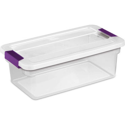"Sterilite Clearview Storage Box With Latched Lid 17511712 - 6 Qt. 14-1/8""L x 7-7/8""W x 4-7/8""H - Pkg Qty 12"