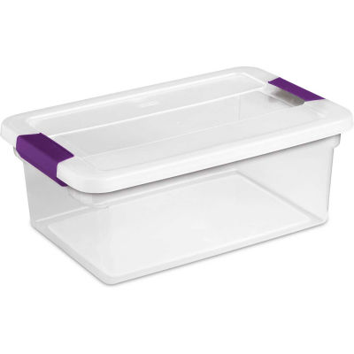 "Sterilite Clearview Storage Box With Latched Lid 17531712 - 15 Qt. 17""L x 11-1/8""W x 6-1/2""H - Pkg Qty 12"