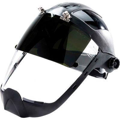 Sellstrom® S32261 DP4 Series Ratcheting Faceshield W/ Chin Guard, Shade 6 IR, AF Flip-Up Window