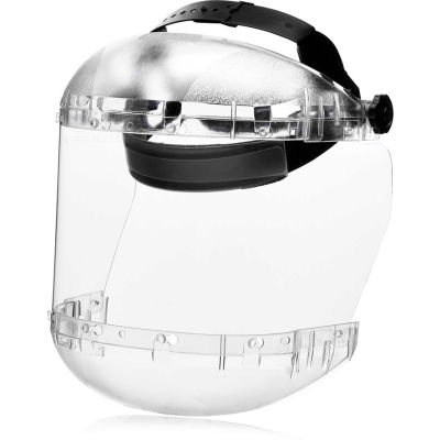 Sellstrom® S38410 380 Series Max Light Ratcheting Faceshield, Dual Crown, Clear, Polycarbonate