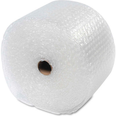 """Sealed Air Recycled Light Weight Bubble Wrap®, 12""""W x 100'L x 5/16"""" Thick, Clear, 1 Roll"""