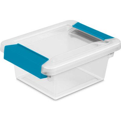"""Sterilite Mini Clip Clear Storage Box With Latched Lid 19698606 - 6-5/8""""L x 5""""W x 2-3/4""""H - Pkg Qty 6"""