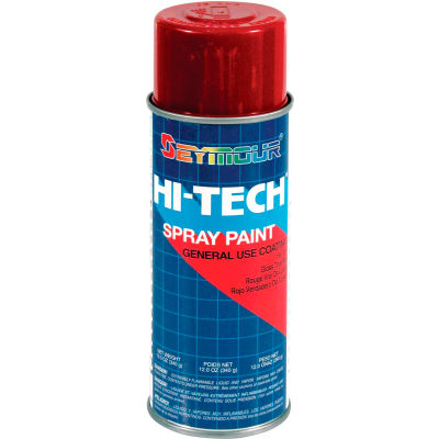 Hi-Tech Enamel 16 Oz. True Red 6 Cans/Case - 16-122