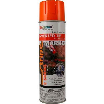 Stripe® 3-Series Street & Utility Marking Paint 20 oz. Orange Fluorescent 20-357, 12/Case