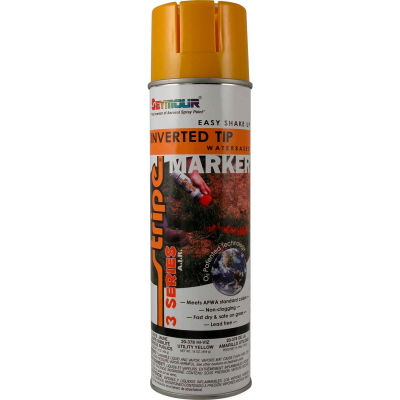 Stripe® 3-Series Street & Utility Marking Paint 20 oz. Utility Yellow 20-378, 12/Case