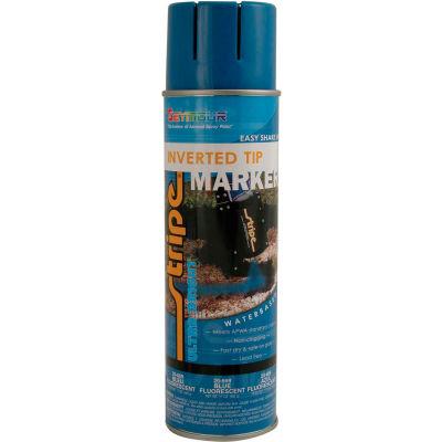 Stripe® Waterbase Street & Utility Marking Paint 20 oz. Blue Fluorescent 20-669, 12/Case