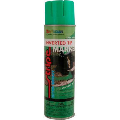 Stripe® Solvent Base Street & Utility Marking Paint 20 oz. Green Fluorescent 20-968, 12/Case
