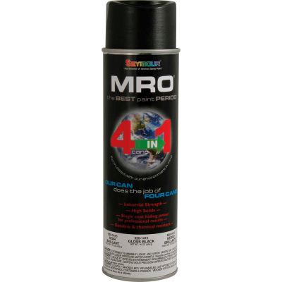MRO Industrial Enamel 20 Oz. Gloss Black 6 Cans/Case - 620-1415