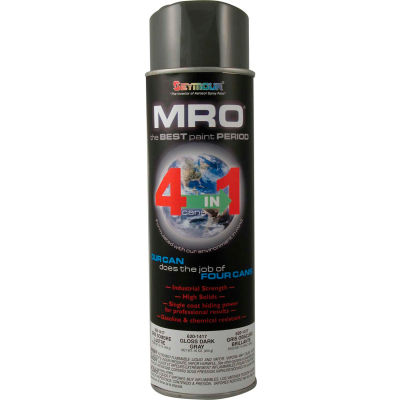 MRO Industrial Enamel 20 Oz. Dark Gray (ANSI49) 6 Cans/Case - 620-1417