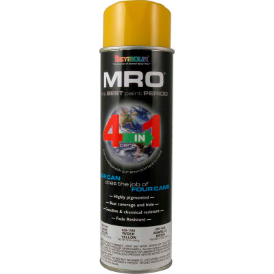 MRO Industrial Enamel 20 Oz. Ryder Yellow 6 Cans/Case - 620-1446