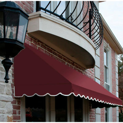 "Awntech CF33-8B, Window/Entry Awning 8' 4-1/2""W x 3'D x 3' 8""H Burgundy"