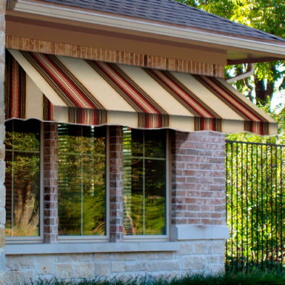 "Awntech CF32-4BRTER, Window/Entry Awning 4' 4-1/2"" W x 2'D x 3' 8""H Brown/Terra Cotta"