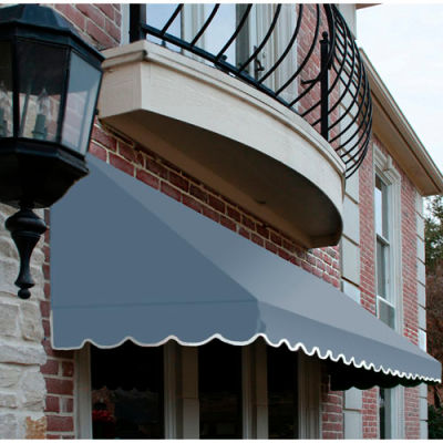 Awntech CF44-10DB, Window/Entry Awning 10-3/8'W x 4-11/16'H x 4'D Dusty Blue