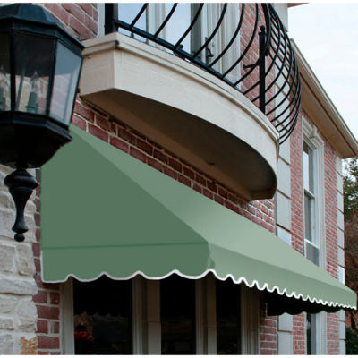 "Awntech CF32-5S, Window/Entry Awning 5' 4-1/2"" W x 2'D x 3' 8""H Sage"