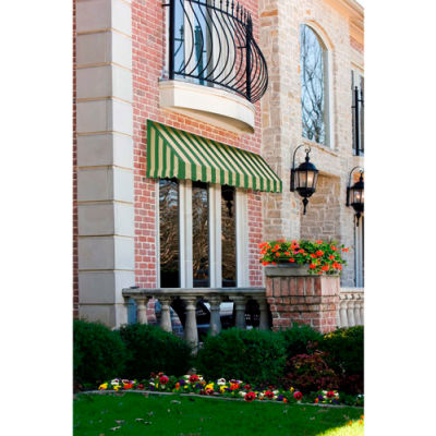 "Awntech CF32-8SLCR, Window/Entry Awning 8' 4-1/2"" W x 2'D x 3' 8""H Sage/Linen/Cream"
