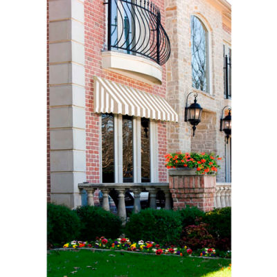 "Awntech CF33-5TW, Window/Entry Awning 5' 4-1/2""W x 3'D x 3' 8""H Linen/White"