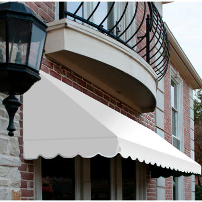"Awntech CF32-6W, Window/Entry Awning 6' 4-1/2"" W x 2'D x 3' 8""H Off White"
