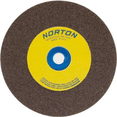 "Norton 07660788230 Gemini Bench and Pedestal Wheel 5"" x 1"" x 1"" 36 Grit Aluminum Oxide"