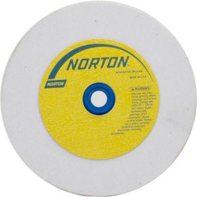 "Norton 07660788247 Premium Bench and Pedestal Wheel 6"" x 3/4"" x 1"" 100 Grit Aluminum Oxide"
