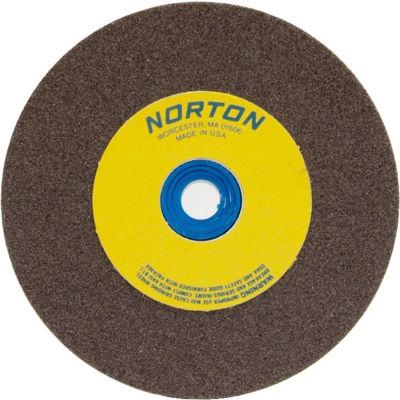 "Norton 07660788295 Gemini Bench and Pedestal Wheel 10"" x 1"" x 1-1/4"" 36 Grit Aluminum Oxide"