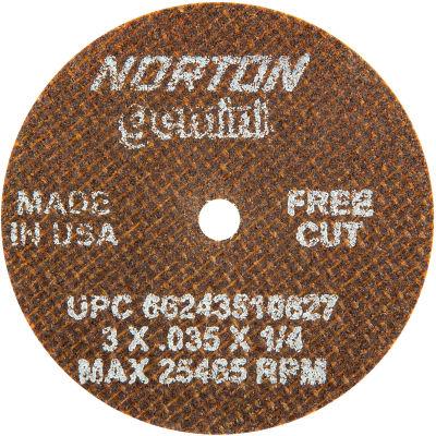 "Norton 66243510627 Gemini Small Diameter Cut-Off Wheel 3"" x .035"" x 1/4"" 60 Grit Alum. Oxide Type 1 - Pkg Qty 25"