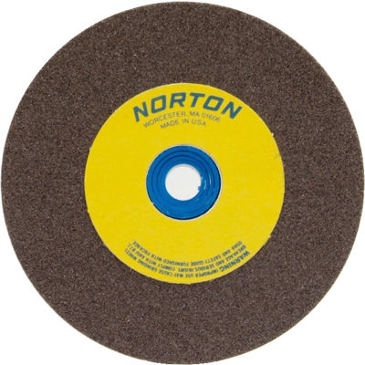 "Norton 66252836133 Gemini Bench and Pedestal Wheel 6"" x 1/2"" x 1"" 100 Grit Aluminum Oxide"