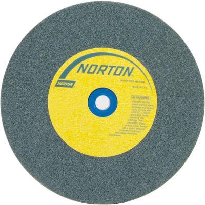 "Norton 66253144536 Gemini Bench and Pedestal Wheel 10"" x 1"" x 1-1/4"" 60 Grit Silicon Carbide"