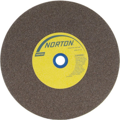 "Norton 66253161395 Gemini Bench and Pedestal Wheel 10"" x 1-1/2"" x 1-1/4"" 60 Grit Aluminum Oxide"