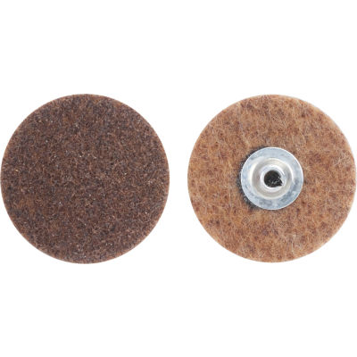 "Norton 66261009183 Bear-Tex Non-Woven Quick-Change Disc 2"" Dia. CRS Grit Aluminum Oxide Type II - Pkg Qty 50"