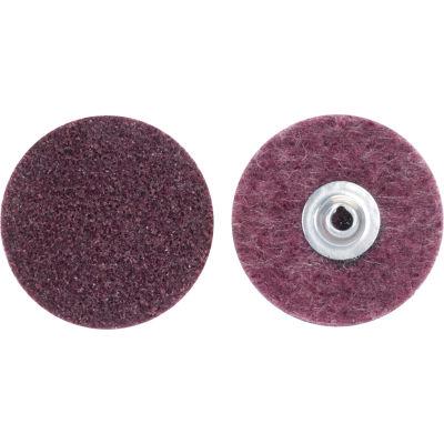"""Norton 66261009185 Bear-Tex Non-Woven Quick-Change Disc 3"""" Dia. MED Grit Aluminum Oxide Type II - Pkg Qty 25"""