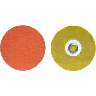 "Norton 66261043379 Blaze Quick-Change Cloth Disc 1-1/2"" Dia. 120 Grit Seeded Gel Ceramic Type II - Pkg Qty 100"