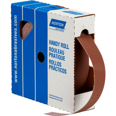 "Norton 66261126278 Metalite Cloth Roll 1-1/2""W x 50 Yds. Aluminum Oxide P600 Grit"