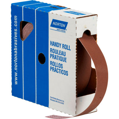 "Norton 66261126284 Metalite Cloth Roll 1-1/2""W x 50 Yds. Aluminum Oxide P180 Grit"