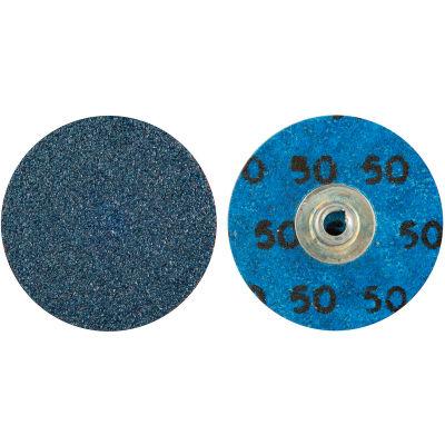 "Norton 66261138634 BlueFire Quick-Change Cloth Disc 2"" Dia. 60 Grit Zirconia Alumina Type II - Pkg Qty 25"